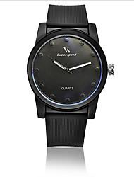 Мужской Наручные часы Кварцевый Защита от влаги силиконовый Группа Черный бренд-