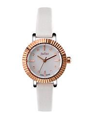 Julius® Women Watch Special Gear-shape Design Shell Dial Quartz Leather Belt Wristwatch JA-802