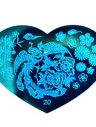 BlueZOO Love Blue Nail Art Stamping (20)