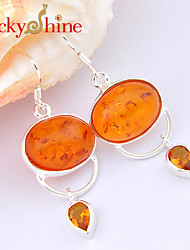 Drop Earrings Crystal Amber Fashion Flower Jewelry Wedding Party Daily Casual Sports 2pcs