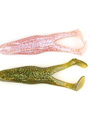 """3 pc Esche morbide / Shad Nero / Rosa / Verde luce / Verde bosco / Rosso / Giallo 15 g/1/2 Oncia,100 mm/4"""" pollice,Plastica morbida /"""