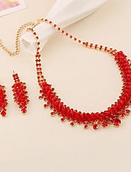Jewelry Set Women's Anniversary / Wedding / Engagement / Party / Special Occasion Jewelry Sets Vermeil / Rhinestone RhinestoneNecklaces /