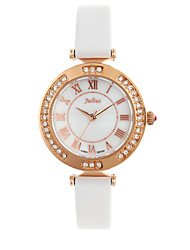 Mulheres Relógio de Moda Quartz Couro Banda Preta / Branco / Cores Múltiplas marca