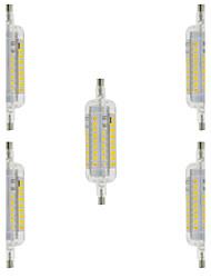 5W R7S LED Mais-Birnen T 60 SMD 2835 800 lm Warmes Weiß / Kühles Weiß Dekorativ / Wasserdicht AC 220-240 V 5 Stück