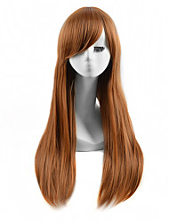 grande longueur des cheveux raides lumière armure européenne perruque brune