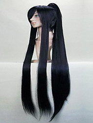 Wonderful Super Long Straight  Cosplay Wig with Ponytail Synthetic Hair Wigs Natural Animated  Party Wigs 3 Colors