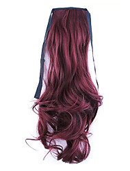 Black Length 50CM Factory Direct Sale Bind Type Curl Horsetail Hair Ponytail(Color 118)