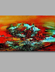 "Stretched (Ready to hang) Hand-Painted Oil Painting 36""x24"" Canvas Wall Art Modern Abstract Red Orange Black"