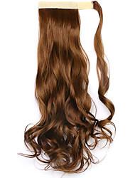 borwn comprimento 45 centímetros a nova velcro peruca de rabo de cavalo (cor 27)