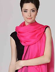 Women Cute Pure Color High-end Scarves Chiffon Shawl Beach Towel