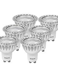 GU10 Faretti LED MR16 1 COB 240-270 lm Bianco caldo Luce fredda Decorativo AC 100-240 V 6 pezzi