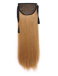 longue prêle perruque de cheveux raides longueur 60cm d'or de type de liaison synthétique (couleur 6a)