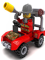 22004 Fire And Rescue Service - Emergency Fire Truck Abs Material Environment (10Pcs)