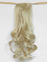 вода волна бежевый блондин синтетический тип повязка парик волос хвостик (цвет 613)