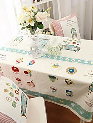 Cartoon Pattern Table Cloth Fashion Hotsale High-grade Cotton Linen Square Coffee Table Cloth Cover Towel