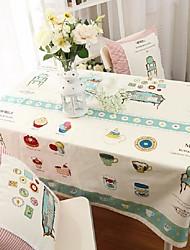 desenhos animados padrão da tabela de moda pano hotsale lençóis de algodão de alta qualidade mesa de café quadrada toalha de capa de pano