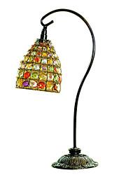 Creative Home Hand-beaded Vintage European-style Iron Decorative Nightlight Desk Lamp