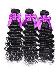 Natural Color Hair Weaves Malaysian Texture Deep Wave 3 Pieces hair weaves