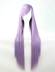 Europe And The United States The New Color Wig 80 CM Wide Light Purple Long Straight Hair Wig