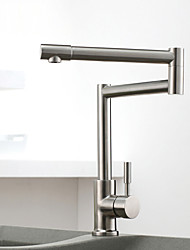 Vessel Single Handle One Hole with Nickel Brushed Kitchen faucet