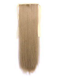 Flaxen Length 60CM Synthetic Bind Type Long Straight Hair Wig Horsetail(Color 16)
