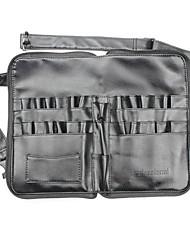 bolso com zíper dobrável bolsa profissional alça de mão de couro saco de cosmética