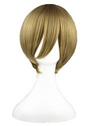 Cosplay Wigs Gintama Okita Sougo Brown Short Anime Cosplay Wigs 35 CM Heat Resistant Fiber Male / Female