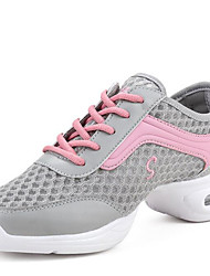 Modern Women's Dance Shoes Sneakers Breathable Synthetic Low Heel Black/White/Grey