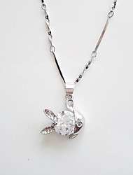 Zircon / Silver Plated Necklace Pendant Necklaces Wedding / Party / Daily / Casual 1pc