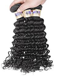 "3 Pcs /Lot 8""-30"" 6A Indian Deep Wave Hair Virgin Human Hair Weave Bundles"