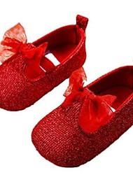 Chaussures bébé-Rouge-Extérieure-Paillette-Mocassins
