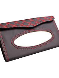 boîte de mouchoirs en cuir de pompage de tissu de vin rouge Rundong parasol de voiture