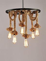Max 60W Vintage Style mini Peintures Métal Lampe suspendueSalle de séjour / Chambre à coucher / Salle à manger / Cuisine / Bureau/Bureau
