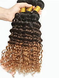 Tejidos Humanos Cabello Cabello Brasileño Ondulado Medio 18 Meses 3 Piezas los tejidos de pelo