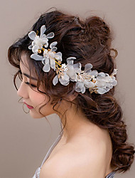 Bride's Flower Shape Crystal Rhinestone Hair Wedding Accessories Headbands  1 Piece