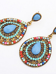 Fashion Water Exaggerated Wedding Bohemian Long Section Drop Earrings