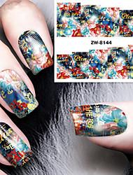 Nail Art наклейки ногтей Вода Передача Переводные картинки