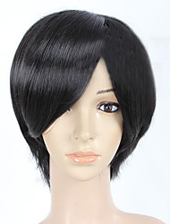 Most Popular Short Black Straight Women Full Synthetic Wig