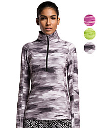 Vansydical® Women's Long Sleeve Sport Tops Quick Dry Leisure Sports