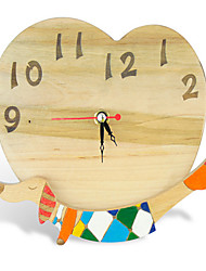 Wood dog clock