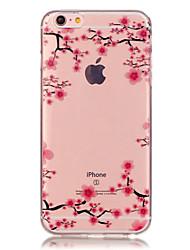iphone 7 плюс TPU сливы цветок шаблон прозрачный мягкий чехол назад для Iphone 6с 6 плюс