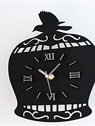 Modern Country Bird Cage Wall Clock
