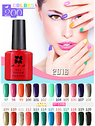 1 stuks ana 192 kleuren gelpolish nail art losweken uv nagel gel polish 10ml 97-100