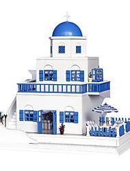 chi fun house bricolage à la main maison de carlingue modèle assemblé construction cadeaux créatifs petits jouets