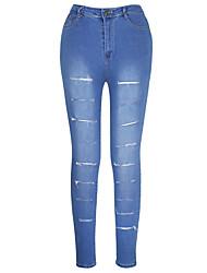 Shaperdiva Women's Butt Lifting Jeans Ripped Skinny Stretch Leggings