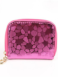 Women PU Casual Coin Purse Gold / Red
