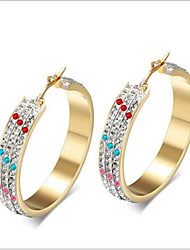 WOMEN Stainless Steel gold  Hoop Earrings