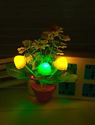 creativo mutevole fiore di colore sensore di luce luce notturna