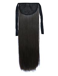 longue prêle perruque de cheveux raides noir longueur 60cm type de liaison synthétique (couleur 4a)