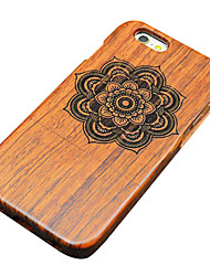 For iPhone 5 Case Pattern Case Back Cover Case Mandala Hard Wooden for iPhone SE/5s/5